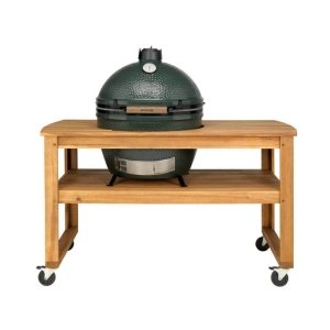 Гриль Big Green Egg XLarge в столе из акации